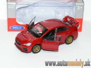 Welly - Subaru WRX STI Red ( Naťahovačka / Pull Back ) - 1:32