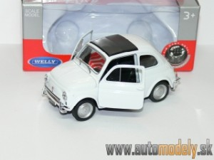 Welly - Volkswagen Beetle White ( Naťahovačka / Pull Back ) - 1:32