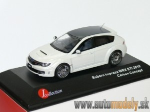 J-Collection - Subaru Impreza WRX STI 2010 (Carbon Concept) White - 1:43
