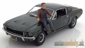 GreenLight - Ford Mustang GT 390 Bullitt Steve Mc-Queen 1968 - 1:18