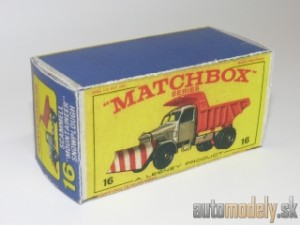 "Replika Box - Matchbox Regular Wheels - No.16 Scammell ""Mountaineer"" Snowplough"