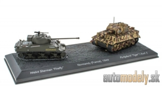 Atlas - M4A4 Sherman Firefly + Pz. Kpfw. VI Tiger I Ausf. E Normandy France 1944 World of Tanks