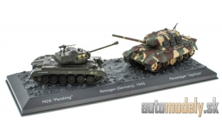 Atlas - M26 Pershing + Panzerjäger Jagdtiger Remagen Germany 1945 World of Tanks