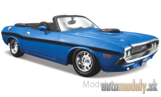 Maisto - Dodge Challenger R/T Convertible, metallic-blue, 1970 - 1:24