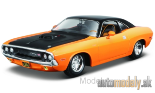 Maisto - Dodge Challenger R/T, orange/black, 1970 - 1:24