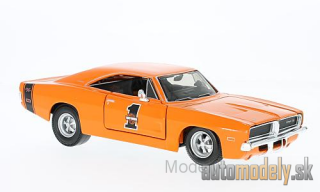 Maisto - Dodge Charger R/T, orange, Harley-Davidson , 1969 - 1:24