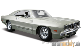 Maisto - Dodge Charger R/T, silver, 1969 - 1:25