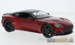 Welly - Aston Martin DBS Superleggera, metallic-dunkelrot/black, 2018 - 1:24