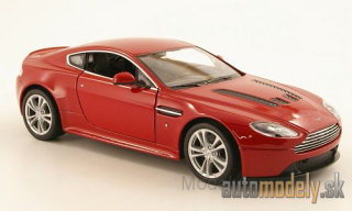 Welly - Aston Martin V12 Vantage, met.-red , 2010 - 1:24