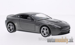 Welly - Aston Martin V12 Vantage, met.- grey , 2010 - 1:24