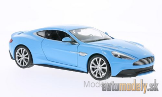 Welly - Aston Martin Vanquish, light blue - 1:24