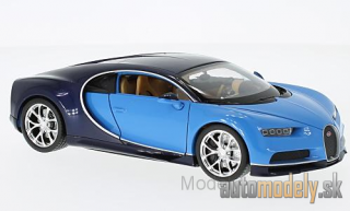Welly - Bugatti Chiron, light blue/dark blue, 2016 - 1:24