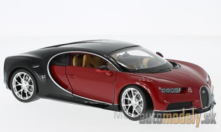 Welly - Bugatti Chiron, red/black, 2016 - 1:24