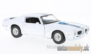 Welly - Pontiac Firebird Trans Am, white/blue, 1972 - 1:24