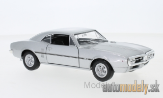 Welly - Pontiac Firebird, silver, 1967 - 1:24