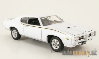 Welly - Pontiac GTO, white, the Judge, without showcase, 1969 - 1:24