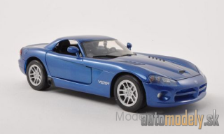 Motormax - Dodge Viper SRT-10 Hard Top, metallic-blue, without showcase, 2003 - 1:24