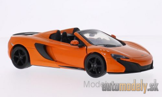 Motormax - McLaren 650S Spider, orange - 1:24