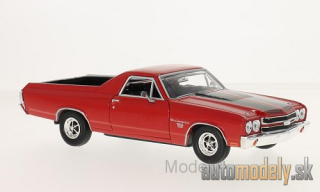 Motormax - Chevrolet El Camino, red/black, 1970 - 1:24