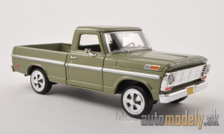 Motormax - Ford F-100 Pick Up, metallic-grün, without showcase, 1969 - 1:24