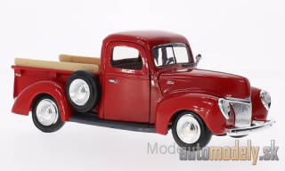 Motormax - Ford Pick Up, red, without showcase, 1940 - 1:24