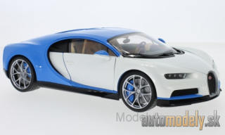 Welly - Bugatti Chiron, white/light blue, 2016 - 1:18