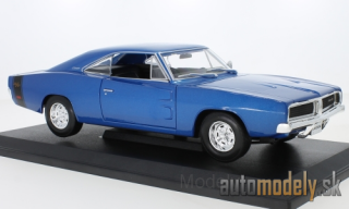 Maisto - Dodge Charger R/T, metallic-blue, 1969 - 1:18