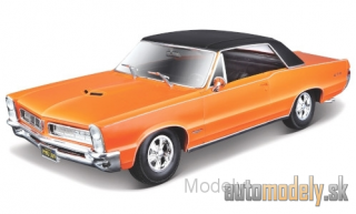 Maisto - Pontiac GTO, metallic-orange/mattblack, 1965 - 1:18