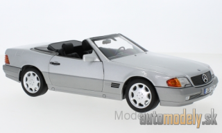 Norev - Mercedes 500 SL (R129), silver, with Softtop and Hardtop, 1988 - 1:18