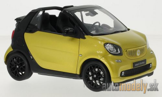 Norev - Smart fortwo Convertible (A453), metallic-gelb/black, Softtop lays by - 1:18