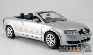 Motormax - Audi A4 Convertible, silver, without showcase - 1:18