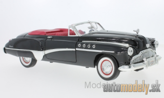 Motormax - Buick Roadmaster Convertible, black/red, 1949 - 1:18