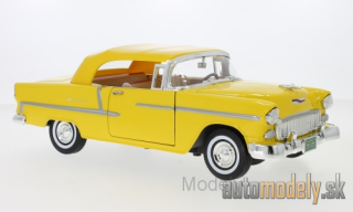 Motormax - Chevrolet Bel Air Convertible, yellow, 1955 - 1:18