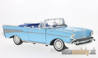 Motormax - Chevrolet Bel Air Convertible, light blue, 1957 - 1:18