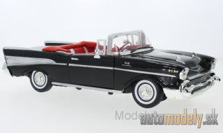 Motormax - Chevrolet Bel Air Convertible, black, 1957 - 1:18