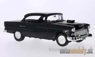 Motormax - Chevrolet Bel Air Tuning, black, 1955 - 1:18