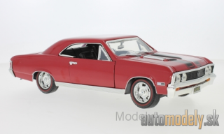 Motormax - Chevrolet Chevelle SS 396, dark red/black, 1967 - 1:18