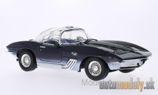 Motormax - Chevrolet Mako Shark, dark blue/white, 1961 - 1:18