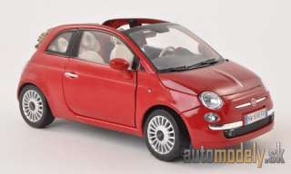Motormax - Fiat 500 Convertible, red - 1:18