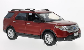 Motormax - Ford Explorer XLT, dark red, 2015 - 1:18