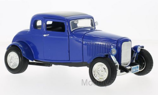 Motormax - Ford Five Window Coupe, blue, 1932 - 1:18