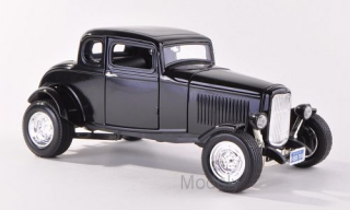Motormax - Ford Five Window Coupe, black, 1932 - 1:18