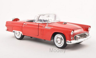 Motormax - Ford Thunderbird Convertible, red, 1956 - 1:18