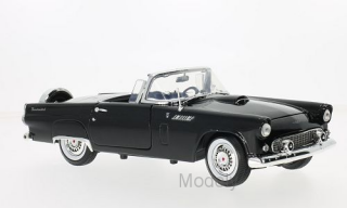 Motormax - Ford Thunderbird Convertible, black, 1956 - 1:18