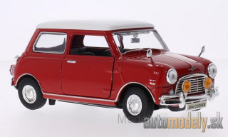 Motormax - Mini Cooper, red, white roof - 1:18
