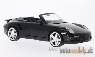Motormax - Porsche 911 (997) Turbo Convertible, black, without showcase - 1:18