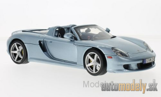 Motormax - Porsche Carrera GT, metallic-light blue, 2004 - 1:18