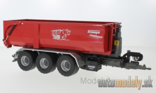 Wiking - Krampe Hakenlift THL 30 L, red, with rolling container Big Body 750 - 1:32