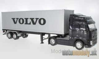 Welly - Volvo FH12, Volvo, with box wagon-trailer - 1:32