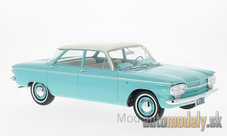 Premium X - Chevrolet Corvair Sedan, türkis/light beige, 4-door, 1961 - 1:18